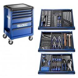 Įrankių rinkinys su vežimėliu Expert Tools